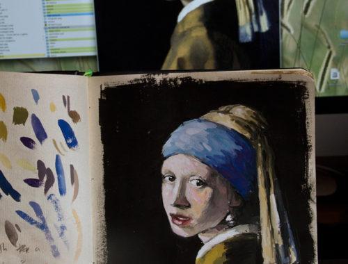 Gouache - Vermeer Study