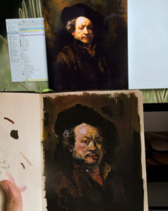 Gouache - Rembrandt Study