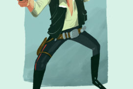 Tribute illustration for the coolest character .. Han Solo