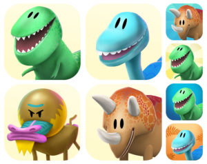 Game Icon variants designed to portrait funny characters that connect to the viewer.