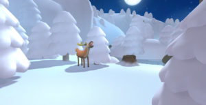 Screenshot of the real time gameplay. Responsible for most of the lighting, texturing and setdressing of the level. Art direction by Juan Castañeda