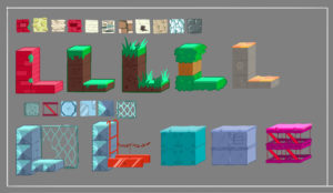 Design of base and variants for the tile-based levels. Responsible from sketch to CG texturing on game.