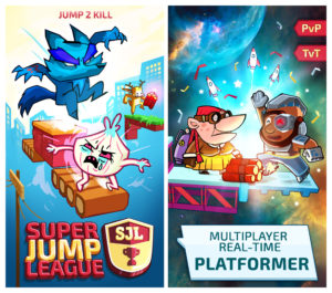 Marketing pieces for AppStore designed to show art direction and multiple features of the game.