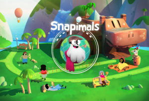 "Design of the Splash Screen for ""Snapimals"" mobile video game. Property of BebopBee, inc."