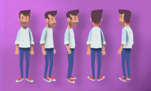 Character turnaround and digital look dev.