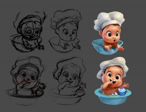 Process of design the baby